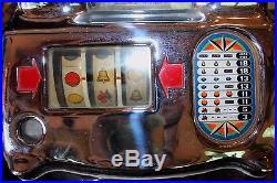 1940's Antique Jennings Standard Chief 10 Cent Slot Machine