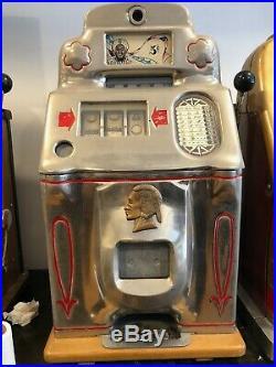 1940's Jennings Standard Chief Dunes Casino Nickel 5 cent Slot Machine Las Vegas