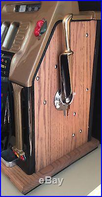 1940's Mills GOLDEN FALLS Antique Dime Slot Machine MINT CONDITION 100% Restored