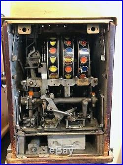 1940's Mills Golden Nugget Casino Nickel 5 cent Slot Machine Las Vegas