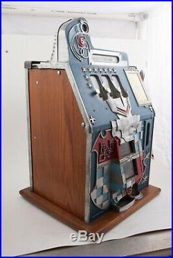 1940s 5 Cent Mills Castle Slot Machine For Parts or Repair (PAT) N 349 E