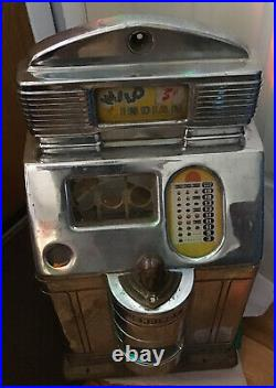 1940s Jennings Wild Indian 5 cent Slot Machine Case Only