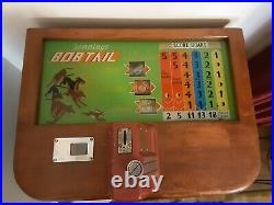 1941 Jennings Bobtail Antique Slot Machine Console. All Original-Near mint