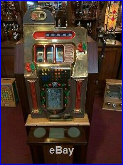 1946 10 Cent GOLDEN FALLS Club Console Slot Machine Watch Video