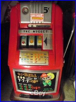 1946 Antique Mills High Top 5 Cent Slot Machine From The Nugget Casino In Spark