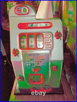 1946 Mills 5 Cent Black Cherry Antique Slot Machine