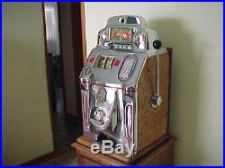 1946 ORIGINAL Jennings Standard Chief Slot Machine-beautiful chrome, must see