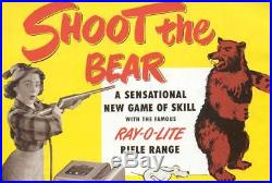 1947 Seeburg Shoot the Bear Coin-Op Penny Arcade Moving Target Gun Game