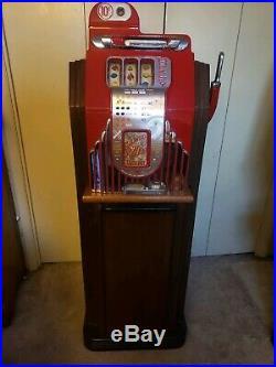 1948 Buckley Criss Cross Antique coin slot machine
