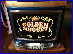 1948 GOLDEN NUGGET Casino 50 Cent MILLS Hi-Top Jackpot Slot Machine Video