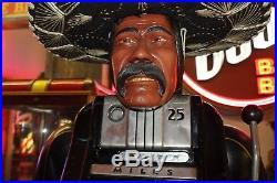 1948 Original One Mills Jewel Bell Harris Mexican Bandito Statue Slot Machine