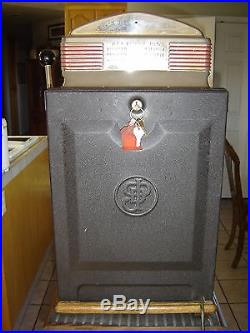 1949 Jennings'Sun Chief' Slot Machine Orange Light Up