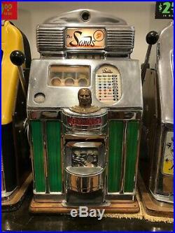 1949 Jennings Super Chief SANDS Casino Nickel 5 cent Slot Machine Works Perfect