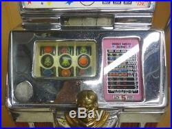 1950s Jennings SILVER DOLLAR Governor Slot Machine PALACE HOTEL CASINO Light Up