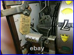 1953 Antique Original Mills Nickel Slot Machine Hi Top Triple 7s
