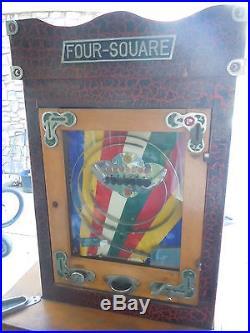 1954 Bryans Four Square English Allwin Coin-Op Penny Arcade Rare Pilwin Fivewin