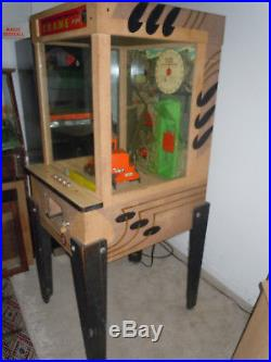 1956 Williams Crane Coin-Op Arcade Game Working Nice Original Sidewalk Engineer