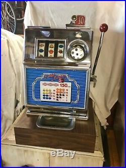 1963 PACE slot machine 10 cents Harvey's