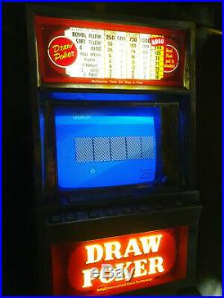 1980s IGT 25 Cent Video Draw Poker Machine and CABINET FOR PARTS ONLY