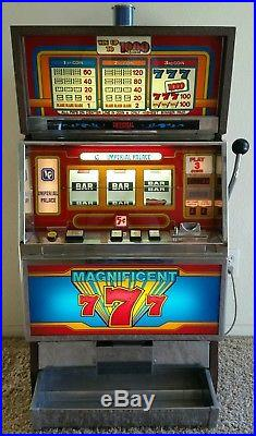 1986 Universal Magnificent 7 Slot Machine 97% Return from Imperial Palace Casino