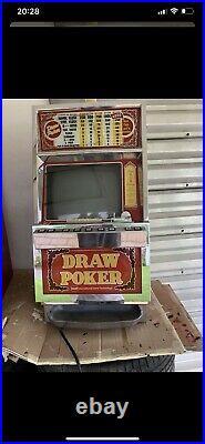 2 Antique Igt 25 Cent Draw Poker Slot Machine