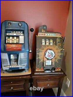 2 Vintage Mills Slot Machines High Top Bursting Cherry