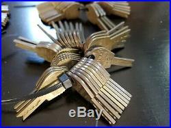 246 original Bell Lock Slot Machine Trade Stimulator Coin Op Vending Keys