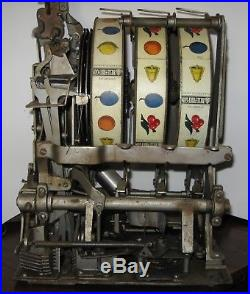 25 Cent Early Mills Slot Machine With Working Skill Stops