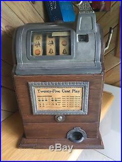 25 Cent Jennings Gooseneck 3-Reel Slot Machine