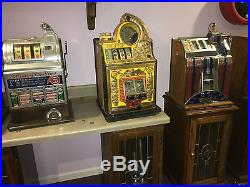 25 Cent Watling Rol-A-Top Antique Slot Machine with RARE Skill Stop Feature