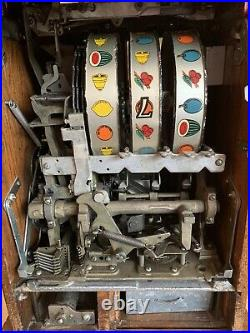 25 Cents Vintage Buckley Slot Machine Truly A Well Cared For Machine