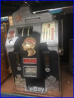 25 cent 2 Bit Jennings Star 1930s Antique Slot Machine Rare