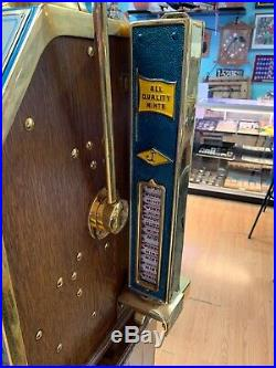 25 cent 2 Bit Jennings Star 1930s Antique Slot Machine Rare Find. Works Great