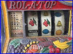 25c Watling Rol-A-Top Bird of Paradise Slot Machine Skill Stop Gold Award Mints