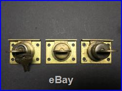 (3) Matching original Mills Slot Machine Locks