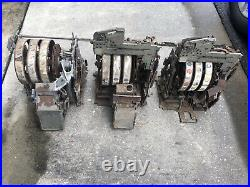 (3) Vintage Jennings 5 Cent Slot Machine Mechanisms Pre-War With Jackpots LOOK