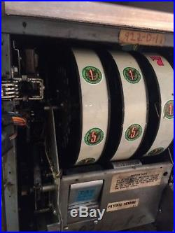 5 Cent Bally Slot Machine You Play Nickels and You get Paid In Eisenhower Dollar