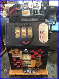 5 Cent Mills Hand Load Castle Front Slot Machine Rare Late Production