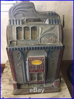 5 Cent O. D. Jennings Century Front Vendor Slot Machine