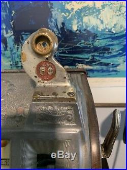 5 Cent Pace Vintage Slot Machine Serial #93969 (Unrestored Condition)