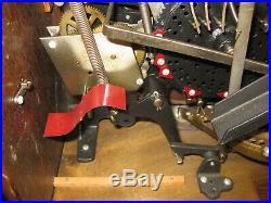 5 Cent WATLING JEFFERSON ONE WHEEL SLOT MACHINE OAK & CAST IRON RARE EARLY