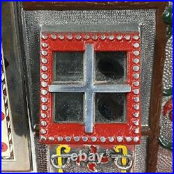 5 cent Mills Poinsettia Slot Machine (Collector Owned And Maintained)