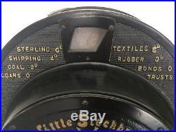 ANTIQUE 1920's Little Stock Broker Spin Wheel English Slot Machine