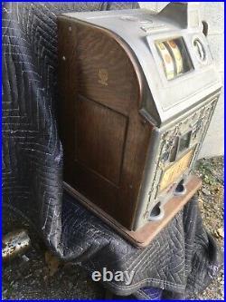 ANTIQUE 1920s JENNINGS DUTCH BOY 5 CENT SLOT MACHINE