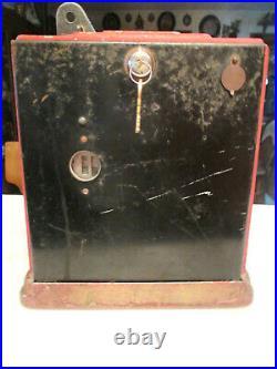 ANTIQUE 1930'S SPARKS 5 CENT Simulator Vending Gumball Cigarette SLOT MACHINE