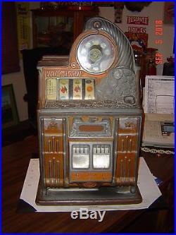 Antique 1936 5 Cent Watling Rolatop Slot Machine