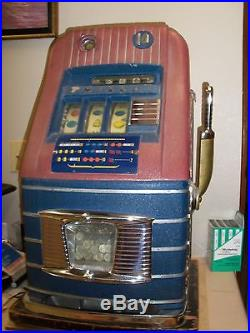 ANTIQUE 1940s MILLS 10 CENT SLOT MACHINE