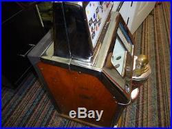 ANTIQUE JENNINGS INDIAN HEAD 25 CENT SLOT MACHINE 1940s BEAUTIFUL & ORIGINAL