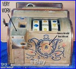 Antique Nickel Coin Slot Machine 5 Cent Coin