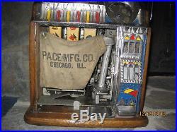 ANTIQUE SLOT MACHINE PACE BANTAM BEAUTIFUL 10 CENT 1920's-1930's RARE